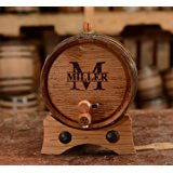Custom Whiskey Barrel - Personalized Wine Barrel - Engraved Oak 2 Liter Barrel | Age your own Tequila, Whiskey, Rum, Bourbon, Wine