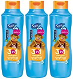 Suave Kids 3 in 1 Shampoo Conditioner and Body Wash, Razzle Dazzle Raspberry, 22.5 Ounce (Pack of 3)