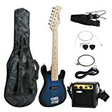 "Smartxchoices 30"" Inch Kids Electric Guitar With 5W Amp & Much More Guitar Combo Accessory Kit Holiday Gift (Blue)"