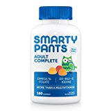 SmartyPants Adult Complete Gummy Vitamins: Multivitamin & Omega 3 DHA/EPA Fish Oil, Methyl B12, Vitamin D3, 180 count (30 Day Supply)