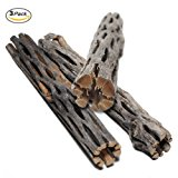SunGrow Natural Cholla Wood -- Beautiful Driftwood for Aquarium Decoration - Habitat for Hermit Crab - Chew Toys for small pets