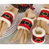 Sotijobs 4pcs Christmas Napkin Rings Serviette Holder Party Banquet Dinner Table Decor
