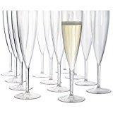 Premium Quality Plastic 5oz. Champagne Flute | Set of 12