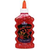 Elmer's Liquid Glitter Glue, Washable, Red, 6 Ounces, 1 Count - Great For Making Slime
