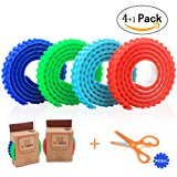 Block Tape for Lego Bricks - MOOHAM Self Adhesive Baseplate Strips for Kids, Non-toxic Cuttable Reusable, Compatible with Major Brands Building Blocks, 4 Colors 3.2 Feet of Each,Bonus a Safe Scissors