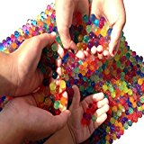 Water Beads, 2 oz pack (Almost 4,000 !!) Sooper Beads Crystal Soil Water Bead Gel [Rainbow Mix] For Kids Tactile Sensory Experience, Wedding Centerpiece Vase Filler, Plant decoration, Orbeez refill