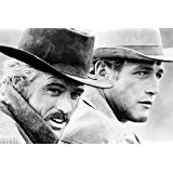 Butch Cassidy and The Sundance Kid Newman & Redford on horse together 24X36 Poster