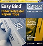 """Kapco Book Protection Easy Bind Repair Tape - 1 1/4"""" wide x 100' long"""