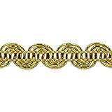 Expo International Pia Metallic Scroll Braid Trim Embellishment, 20-Yard, Gold