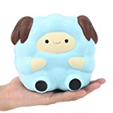 """Aolige 5.2"""" Jumbo Squishies Kawaii Blue Lamb Cream Scented Slow Rising Decompression Squeeze Toys Children Simulation Cute Sheep Toys"""