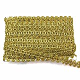 Metallic Gold Gimp Braid Trim for Christmas, Costumes, Dancewear, Fascinators, Hats, Burlesque, Decorative Sold By The Roll (20 Yards/Roll)