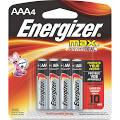 Energizer Max E92BP-4 Battery - AAA - Alkaline