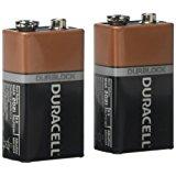 Duracell Alkaline 9V Battery Pack Of 2 Mn1604