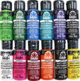FolkArt Multi-Surface Paint Set (2 Ounce), PROMO830 No.1 (12-Pack)