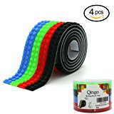 Qingo Building Blocks Tape Compatible lego Collection Construction Self-Adhesive tape 4 Rolls Red Blue Black Green