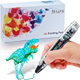 3D Doodler Pen - 3D Printing Pen 4.0 Version - Non-Toxic - Won't clog - One Button Operation Comes w/ 4 Drawing Templates +3 PLA Filament +1 Small Shovel + 1 Transparent Sheet
