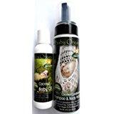 Baby Organic Shampoo & Body Wash Coconut Scent by Natures Paradise and Baby Organic Coconut Baby Oil