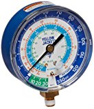 """Yellow Jacket 49106 Gauge (degrees F) Blue Compound, 30""""-0-120 psi, R-22/134A/404A, 3-1/8"""""""