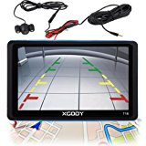 Xgody 718BT 7 Inch 8GB Capacitive Touchscreen SAT NAV Car GPS Navigation with Sunshade Rearview Camera Bluetooth Lifetime Map Updates Spoken Turn-By-Turn Directions Speed Limit Alert