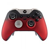 eXtremeRate Red Shadow Soft Touch Replacement Faceplate Front Shell for Xbox One Elite Controller