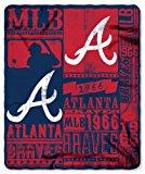 Atlanta Braves Blanket 50x60 Fleece Strength Design