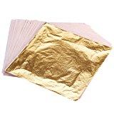 OPount 100 Sheets Imitation Gold Leaf 5.5 Inch for Art, Crafts Decoration, Gilding Crafting, Frames