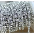 Aketek 10 Yard Crystal Rhinestone Close Chain Clear Trim Sewing Craft