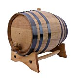 American Oak Aging Barrel | Age your own Tequila, Whiskey, Rum, Bourbon, Wine - 5 Liter or 1.32 Gallons