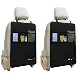 Kick Mat Auto Seat Back Protectors + Organizer Pockets By Lebogner - Luxury Seat Covers For The Back Of Your Front Seats 2 Pack, X-Large Car Back Seat Protectors, Backseat Child Kick Guard Seat Saver