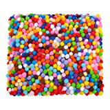 Shappy 2000 Pieces 6 mm Assorted Pom Poms for Craft Making, Hobby Supplies and DIY Creative Crafts Decorations
