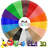 PLA 3D Pen Filament Refills(16 Colors, 20 Feet Each) with 100 Stencils EBooks - Dikale 3D Printing Pen Filament 1.75mm Total 320 Feet for PACKGOUT, MYNT3D, Soyan, DeWang, Scribbler 3D Doodler Pen