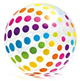 "Intex Jumbo Inflatable 42"" Giant Beach Ball - Crystal Clear with Translucent Dots - 59065EP / 2016"