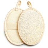 Exfoliating Loofah Pad - 2pack 100% Natural Loofah Sponge Scrubber Brush Close Skin for Men and Women - GAINWELL