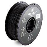 HATCHBOX 3D ABS-1KG1.75-BLK ABS 3D Printer Filament, Dimensional Accuracy +/- 0.05 mm, 1 kg Spool, 1.75 mm, Black