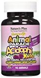 Nature's Plus - Animal Parade Acidophikidz, 90 chewable tablets Berry Flavor, Gluten Free