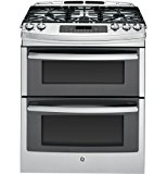 """GE PGS950SEFSS Profile 30"""" Stainless Steel Gas Slide-In Sealed Burner Double Oven Range - Convection"""