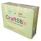 Popsicle Craft Sticks By CraftStix - 150 Jumbo (6 inch) and 300 Small (4,5 inch) - Assorted Wood Supplies for School Projects, Spa, Craft Projects, Classroom