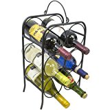 Sorbus 6 Bottle Freestanding Wine Holder Rack- Classic Arch Style Wine Stand Designed for Countertops, Tabletops, and more - Great for Small Spaces