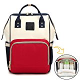 Diaper Bag Backpack Multi-Function Waterproof Travel Stroller Organizer Nappy Changing Pad Mummy Bags with Insulated Pockets for Baby Care