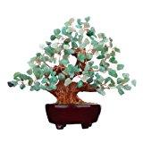 7 Inch Feng Shui Aventurine Quartz Gem Stone Money Tree Natural Green Crystal Money Tree Office Living Room Good Luck Decoration