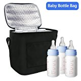 TedGem Breast Milk Baby Bottle Cooler Bag - Bottle Tote Bags For Insulated Breastmilk Storage w/ Air Tight Lock in the Cold & Preserve Important Nutrients