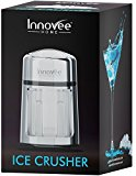 Innovee Manual Ice Crusher With Rust-Proof Zinc Alloy Construction – Carbon Steel 430 Blade Crushes Ice to Your Desired Fineness – Non-Slip – Easy to Use Ice Crusher Hand Crank – Chrome Plated