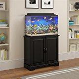 Altra Furniture Harbor Aquarium Stand, 29-37 gallon, Black