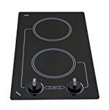 Kenyon B41601 6-1/2-Inch Caribbean 2-Burner Cooktop with Analog Control UL, 120-volt, Black