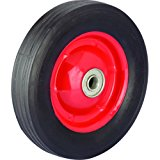 Shepherd Hardware 9590 6-Inch Semi-Pneumatic Rubber Tire, Steel Hub with Ball Bearings, Ribbed Tread, 1/2-Inch Bore Centered Axle