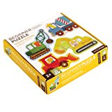 Petit Collage Beginner Jigsaw Floor Puzzle, Construction, Set of 4 Puzzles