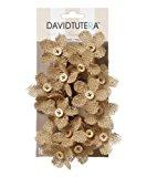 David Tutera Burlap Flower Picks - 4.5 x 3.5 inches - 16 pieces