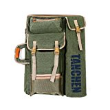 Tanchen 4K Canvas Artist Portfolio Carry Shoulder Bag Multifunctional Drawboard Bags for Drawing Sketching Painting (Army Green)