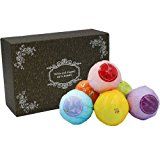 ASFLY Bath Bombs Natural Ultra Lush Essential Oil Spa Bomb Fizzies(Set of 6) for Moisturizing Dry Skin Gift for Ladies and Girls