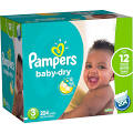 Pampers Baby-Dry Size 3 Diapers 204 ct Box